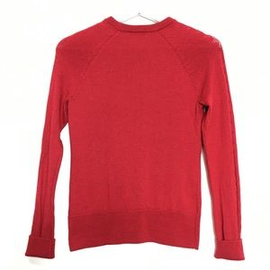 Brooks Brothers Sweaters - Brooks Brothers Red Knit Wool Ruffled Sweater XS